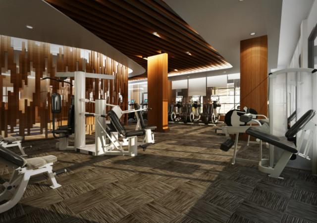 Fitness facility at the Eglinton