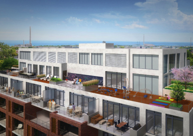 Outdoor amenities at George Condos+Towns