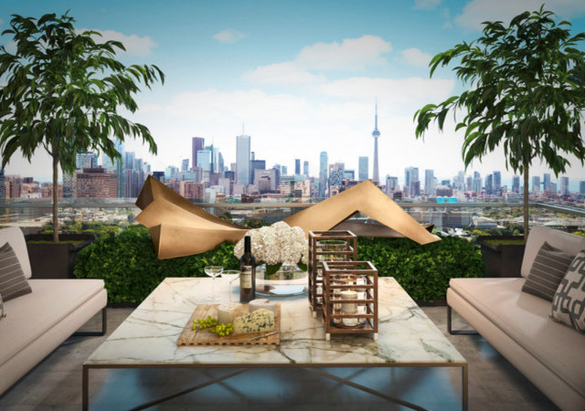 Unparalleled city view from a Yorkville Private Estates' unit